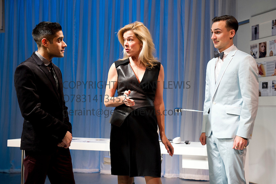 NSFW by Lucy Kirkwood, directed by Simon Godwin. With Sacha Dhawan as Sam, Janie Dee as Miranda, Henry Lloyd-Hughes as Rupert. Opens at The Jerwood Theatre Downstairs at The Royal Court Theatre on 30/10/12. CREDIT Geraint Lewis