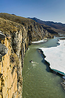 Whitewater rafting on the Kongakut river, Brooks range mountains, Arctic National Wildlife Refuge, Alaska