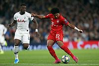 Serge Gnabry of Bayern Munich bursts clear of Serge Aurier of Tottenham Hotspur during Tottenham Hotspur vs FC Bayern Munich, UEFA Champions League Football at Tottenham Hotspur Stadium on 1st October 2019