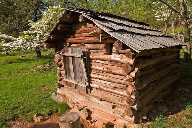 Humpback Rocks Mountain Farm in spring, Blue Ridge Parkway