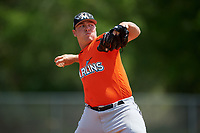Miami Marlins pitcher Ryan Lillie (7) during a Minor League Spring Training game against the St. Louis Cardinals on March 26, 2018 at the Roger Dean Stadium Complex in Jupiter, Florida.  (Mike Janes/Four Seam Images)