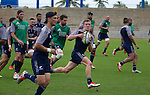 Debutant Damian McKenzie carries he ball. Maori All Blacks Train. Suva, Fiji. July 9 2015. Photo: Marc Weakley
