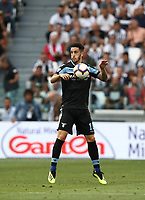 Calcio, Serie A: Juventus - Lazio, Torino, Allianz Stadium, 25 agosto, 2018.<br /> Lazio's Luis Alberto in action with during the Italian Serie A football match between Juventus and Lazio at Torino's Allianz stadium, August 25, 2018.<br /> UPDATE IMAGES PRESS/Isabella Bonotto