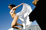 "Sex worker, and 2006 Bunny Ranch Courtesan of the Year, Jenny Lane bounces on a trampoline at the Moonlite Bunny Ranch brothel in Mound House, NV on Thursday, July 27, 2006...The Moonlite Bunny Ranch brothel in Mound House, Nevada - just a few miles from the state capital in Carson City - first opened in 1955. The Ranch is a legal, licensed brothel owned by Dennis Hof. It's featured in the HBO series ""Cathouse."""