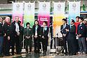 (L to R) Craig Reedie, Hitomi Obara, Kaori Icho, Saori Yoshida, Yuki Ota, Tomiaki Fukuda, MARCH 6, 2013 : Tomiaki Fukuda speeachs for International Olympic Committee Vice President Craig Reedie and IOC Evaluation Commission menber at Tokyo Bigsight, Tokyo, Japan. The IOC evaluation commission, led by Reedie, began a four-day inspection of Tokyo's bid to host the 2020 Olympics. (Photo by Yusuke NakanishiAFLO SPORT)