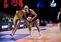Action from the Constellation Cup Netball Series match between the New Zealand Silver Ferns and Australia Diamonds at Horncastle Arena in Christchurch, New Zealand on Sunday, 13 October 2019. Photo: Dave Lintott / lintottphoto.co.nz