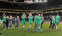 16/11/2015;UEFA 2016 European Championship Play-Off Ireland vs Bosnia-Herzegovina 2nd Leg,Aviva Stadium,Dublin <br /> The Republic of Ireland players celebrate after the game.<br /> Photo Credit: actionshots.ie/Tommy Grealy