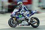 hertz british grand prix during the world championship 2014.<br /> Silverstone, england<br /> August 28, 2014. <br /> FP MotoGP<br /> Box<br /> jorge lorenzo<br /> PHOTOCALL3000/ RME
