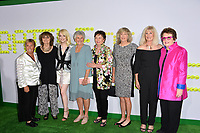 Emma Stone, Billie Jean King, Tennis Players at the premiere for &quot;Battle of the Sexes&quot; at the Regency Village Theatre, Westwood, Los Angeles, USA 16 September  2017<br /> Picture: Paul Smith/Featureflash/SilverHub 0208 004 5359 sales@silverhubmedia.com