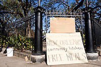 Washington Square Park in the Marigny section of the city of New Orleans turned into an impromptu community center after the storm, here on November 24, 2005.