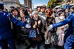 FEBRUARY 17, 2019 - Spectators watch the Konomiya Hadaka Matsuri, or Naked Festival, in Inazawa City, Aichi Prefecture, Japan.<br /> <br /> The festival, which dates to A.D. 767, is held annually to ward off bad luck. (Photo by Ben Weller/AFLO) (JAPAN) [UHU]