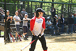 Mitchell Jarvis stars in Rock of Ages and was on GL and AMC plays in The Broadway Show League (softball) which has teams from the Broadway shows who play each other on April 29. 2010 and Thursdays throughout the summer in Central Park, New York City, New York. (Photo by Sue Coflin/Max Photos)