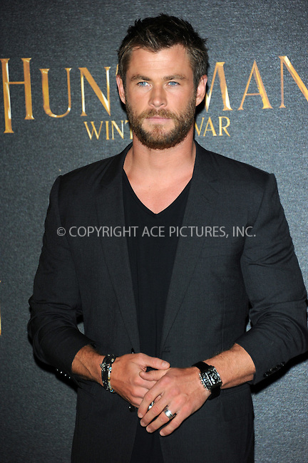 WWW.ACEPIXS.COM<br /> <br /> March 31 2016, London<br /> <br /> Chris Hemsworth at a photocall to promote the film 'The Huntsman: Winter's War' in London, on March 31, 2016 <br /> <br /> By Line: Famous/ACE Pictures<br /> <br /> <br /> ACE Pictures, Inc.<br /> tel: 646 769 0430<br /> Email: info@acepixs.com<br /> www.acepixs.com