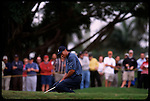 Tiger Woods sighs in disbelief after his putt fails to drop at the Genuity Open at Doral in Miami, Fl.
