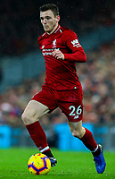 Liverpool's Andrew Robertson<br /> <br /> Photographer AlexDodd/CameraSport<br /> <br /> The Premier League - Liverpool v Manchester United - Sunday 16th December 2018 - Anfield - Liverpool<br /> <br /> World Copyright &copy; 2018 CameraSport. All rights reserved. 43 Linden Ave. Countesthorpe. Leicester. England. LE8 5PG - Tel: +44 (0) 116 277 4147 - admin@camerasport.com - www.camerasport.com