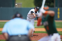 Wake Forest Demon Deacons relief pitcher Griffin Roberts (43) delivers a pitch to the plate against the Miami Hurricanes in Game Nine of the 2017 ACC Baseball Championship at Louisville Slugger Field on May 26, 2017 in Louisville, Kentucky. The Hurricanes defeated the Demon Deacons 5-2. (Brian Westerholt/Four Seam Images)