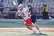 College Park, MD - March 18, 2017: Maryland Terrapins Jon Garino (12) runs with the ball during game between Villanova and Maryland at  Capital One Field at Maryland Stadium in College Park, MD.  (Photo by Elliott Brown/Media Images International)