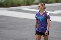 Orlando, FL - Friday July 04, 2014: Aubrey Bledsoe before a regular season National Women's Soccer League (NWSL) match between the Orlando Pride and the Houston Dash at Orlando City Stadium.