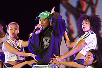 CARHAIX-PLOUGUER, FRANCE - JULY 15, 2016: American singer Pharrell Williams performs at the Festival des Vieilles Charrues, Carhaix-Plouguer, France<br /> Picture: Kristina Afanasyeva / Featureflash
