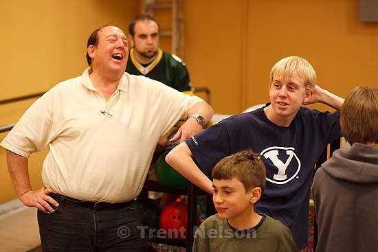 bowling at Chandler's birthday party, University of Utah..Thursday April 30, 2009 in Salt Lake City. matt black, steve black
