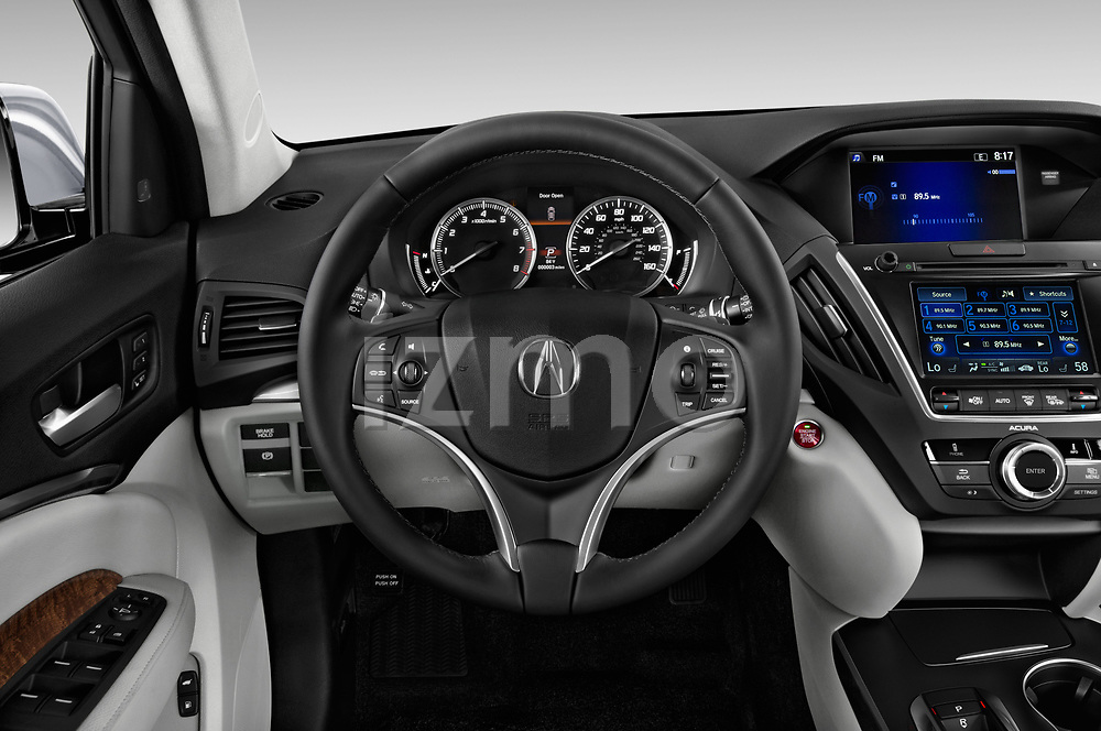 Car pictures of steering wheel view of a 2017 Acura mdx Base 5 Door SUV