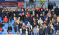Fleetwood Town fans during the Sky Bet League 1 match between Shrewsbury Town and Fleetwood Town at Greenhous Meadow, Shrewsbury, England on 21 October 2017. Photo by Leila Coker / PRiME Media Images.