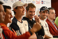 BOGOTA -COLOMBIA. 12-07-2014. Richard Gasquet (FRA), ranking ATP #14, durante rueda de prensa previo al inicio del Claro Open Colombia 2014 a realizarse en la ciudad de Bogotá entre el  14 y el  20 de julio./ Richard Gasquet (FRA), ranking ATP #14, during a press conference prior of the start of Claro Open Colombia 2014 to be held in Bogota between July 14-20. Photo: VizzorImage/ Gabriel Aponte / Staff