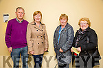 "Enjoying The Group Theatre Tralee production of "" A Queen's Speech "" by Mike O'Halloran in Abbeydorney Community Centre on Sunday night were l-r  Paudie Dineen, Rita Dineen, Ann Kelleher and Breda O'Connor."