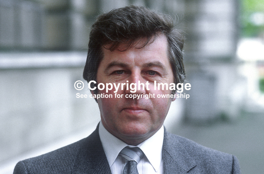 Gabriel O'Keefe, chairman, N Ireland Agricultural Producers Association, 19850506GOK1..Copyright Image from Victor Patterson, 54 Dorchester Park, Belfast, UK, BT9 6RJ..Tel: +44 28 9066 1296.Mob: +44 7802 353836.Voicemail +44 20 8816 7153.Skype: victorpattersonbelfast.Email: victorpatterson@me.com.Email: victorpatterson@ireland.com (back-up)..IMPORTANT: If you wish to use this image or any other of my images please go to www.victorpatterson.com and click on the Terms & Conditions. Then contact me by email or phone with the reference number(s) of the image(s) concerned.