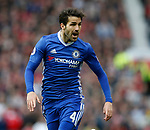 Cesc Fabregas of Chelsea during the English Premier League match at Old Trafford Stadium, Manchester. Picture date: April 16th 2017. Pic credit should read: Simon Bellis/Sportimage