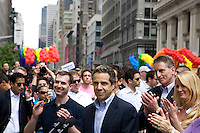 Governor Andrew Cuomo speaks before the 2011 NYC Pride March on 26 June 2011 in New York, New York, two days after the New York State Senate voted 33-29 to legalize gay marriage.