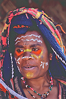 Oceania, Papua New Guinea, Pacific,Huli village woman