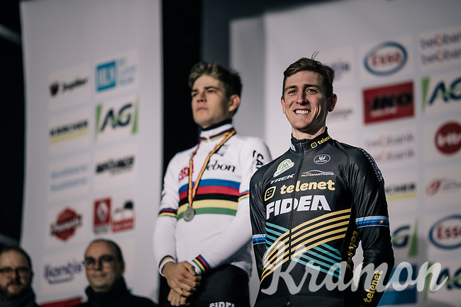 Toon Aerts (BEL/Telenet Fidea Lions) beats World Champion Wout Van Aert (BEL/Cibel-Cebon) to become the new Belgian National Champion<br /> <br /> Elite Men's Race<br /> Belgian National CX Championschips<br /> Kruibeke 2019