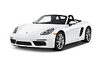 2017 Porsche 718 Boxster 2 Door Convertible angular front stock photos of front three quarter view