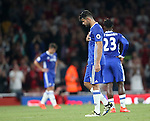 Chelsea's Diego Costa looks on dejected at the final whistle during the Premier League match at the Emirates Stadium, London. Picture date September 24th, 2016 Pic David Klein/Sportimage