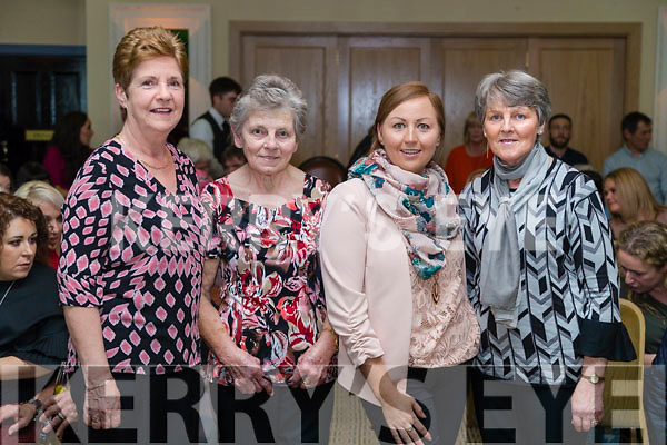Phil Boyle, Noreen Enright, Geraldine Enright and Kathleen Moloney at the John Mitchels GAA 'Strictly Come Dancing' at Ballygarry House Hotel on Sunday night.