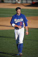 Tim Locastro (25) of the Rancho Cucamonga Quakes in the field  during a game against the Inland Empire 66ers at LoanMart Field on September 6, 2015 in Rancho Cucamonga, California. Rancho Cucamonga defeated Inland Empire, 10-6. (Larry Goren/Four Seam Images)