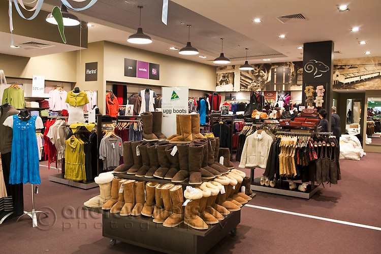 Purely Marino store - selling wool products at Cairns Domestic Airport, Cairns, Queensland, Australia