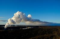 Sunrise, Halemaumau crater eruption, Kilauea volcano, Hawaii, USA Volcanoes National Park, The Big Island of Hawaii, USA