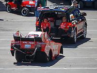 Jun 19, 2016; Bristol, TN, USA; NHRA funny car driver Cruz Pedregon during the Thunder Valley Nationals at Bristol Dragway. Mandatory Credit: Mark J. Rebilas-USA TODAY Sports
