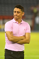 BARRANQUILLA  -COLOMBIA, 14-09-2016. Giovanni Hernández director técnico  del Junior de Colombia durante su encuentro contra  de Blooming de Boliva   durante encuentro  por la fase 2 llave 6 de la Copa Sudamericana disputado en el estadio Metroplitano Roberto Meléndez ./Giovanni Hernadez  coach  of Junior of Colombia   during match against  of Blooming  of Bolivia   during match for the date 2 of Sudamericana Cup   played at Metroplitano Roberto Melendez stadium . Photo:VizzorImage / Alfonso Cervantes  / Contribuidor