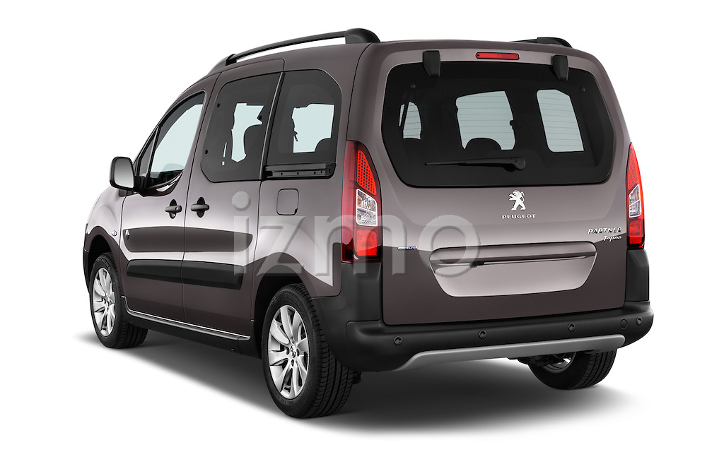 Car pictures of rear three quarter view of2015 Peugeot Partner Tepee Outdoor 5 Door Mini Mpv Angular Rear