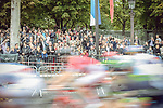 The peloton speed by on Champs-Elysees during Stage 21 of the 104th edition of the Tour de France 2017, an individual time trial running 1.3km from Montgeron to Paris Champs-Elysees, France. 23rd July 2017.<br /> Picture: ASO/Thomas Maheux | Cyclefile<br /> <br /> <br /> All photos usage must carry mandatory copyright credit (&copy; Cyclefile | ASO/Thomas Maheux)