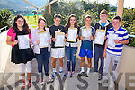 Colaiste na Sceilge Students in Cahersiveen are very happy with their Junior Cert results pictured here l-r; Amy O'Connor, Shannon Horgan, Jamie O'Sullivan, Keelin McShane, Darren Casey, Jack Landers & Adam Kennedy.