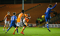 Blackpool's Nathan Delfouneso shoots over the bar<br /> <br /> Photographer Alex Dodd/CameraSport<br /> <br /> The EFL Sky Bet League One - Blackpool v Portsmouth - Saturday 11th November 2017 - Bloomfield Road - Blackpool<br /> <br /> World Copyright &copy; 2017 CameraSport. All rights reserved. 43 Linden Ave. Countesthorpe. Leicester. England. LE8 5PG - Tel: +44 (0) 116 277 4147 - admin@camerasport.com - www.camerasport.com