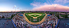 May 9, 2014; Eck Baseball Stadium during the home-opener game after installation of field turf.<br /> <br /> Photo by Matt Cashore