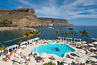 Spain, Canary Islands, Gran Canaria, Puerto de Mogan: Hotel Club de Mar, Pool | Spanien, Kanaren, Gran Canaria, Puerto de Mogan: Hotel Club de Mar, Pool