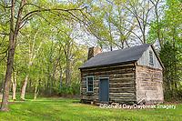 63895-15806 63895-158.02 Cabin at Log Cabin Village in spring Kinmundy IL