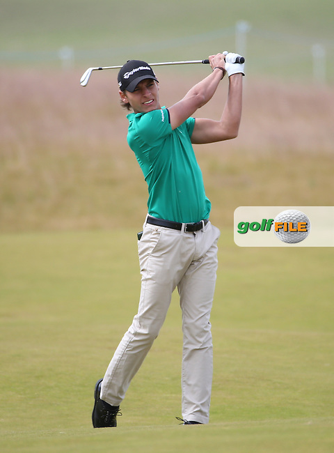 Joakim Lagergren (SWE) during Round Three of the 2016 Aberdeen Asset Management Scottish Open, played at Castle Stuart Golf Club, Inverness, Scotland. 09/07/2016. Picture: David Lloyd | Golffile.<br /> <br /> All photos usage must carry mandatory copyright credit (&copy; Golffile | David Lloyd)