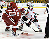 Louis Leblanc (Harvard - 20), Greg Costa (NU - 22) - The Northeastern University Huskies defeated the Harvard University Crimson 4-1 (EN) on Monday, February 8, 2010, at the TD Garden in Boston, Massachusetts, in the 2010 Beanpot consolation game.